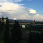 The view of Dzongsar Institute, India